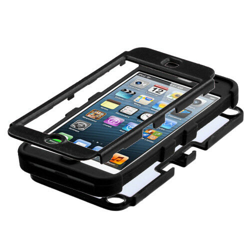 Black Diamond Armor Hybrid High Impact Case Cover for iPod Touch 5th 6th Gen