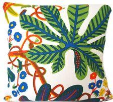 Josef Frank Fabric Cushion Cover Aralia Green Orange White Printed Linen Square