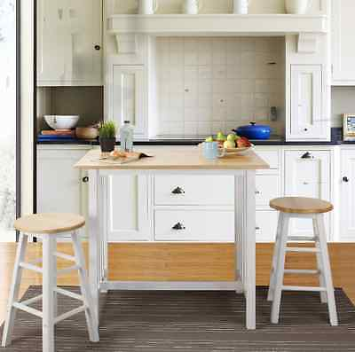 Dining Table Set Small Spaces Pub Bistro Stools White Kitchen Nook Dining 3  PC 30159124913 | eBay