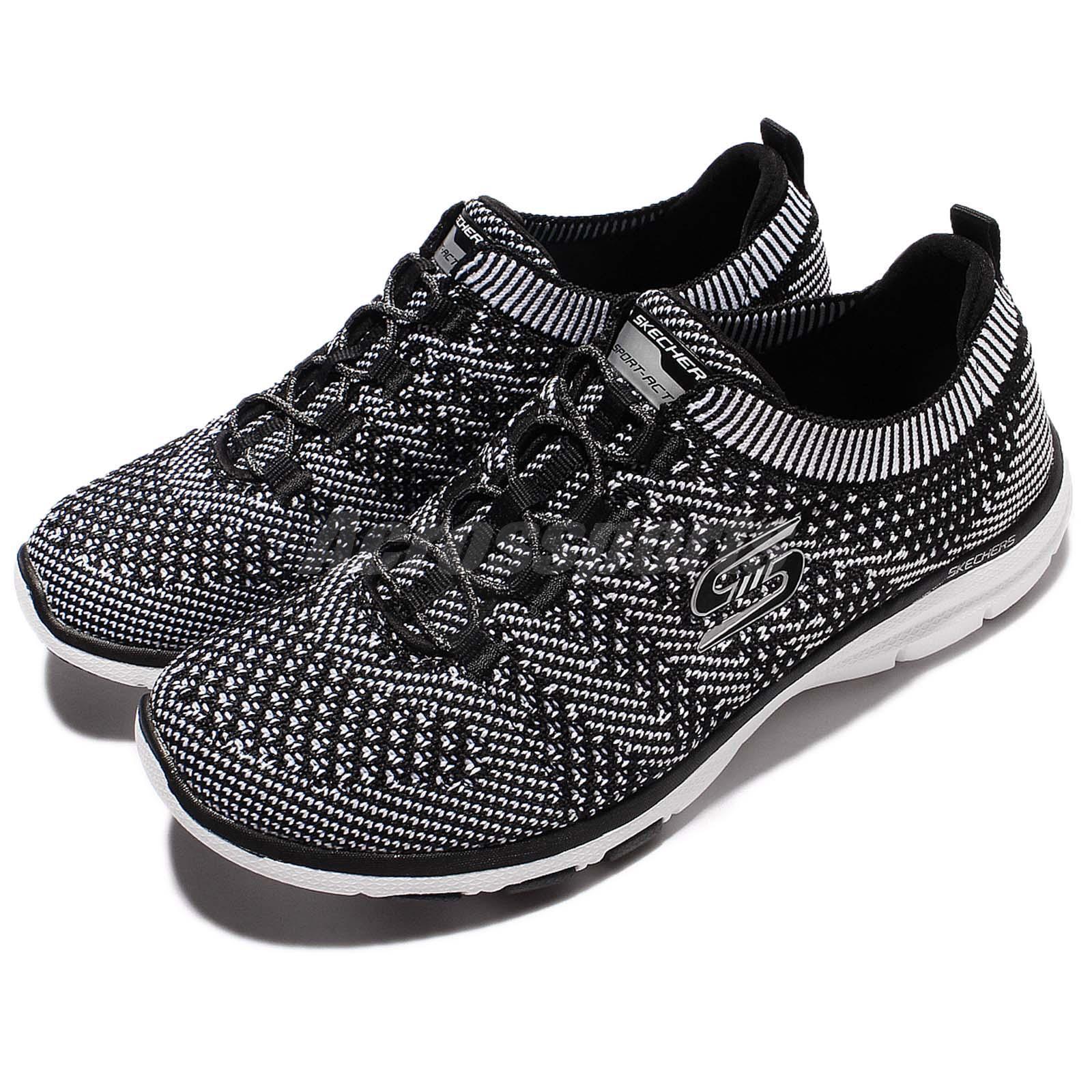 Skechers galaxias Mujer Reino Unido 5 Negro Espuma de memoria de Zapatos de Entrenamiento Gimnasia Deportes