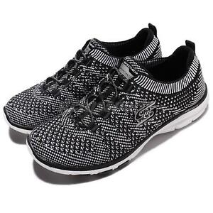 Galaxies Gym Skechers 5 Running Sports Uk Black Foam Memory Women Shoes Trainers 7ZZwqd
