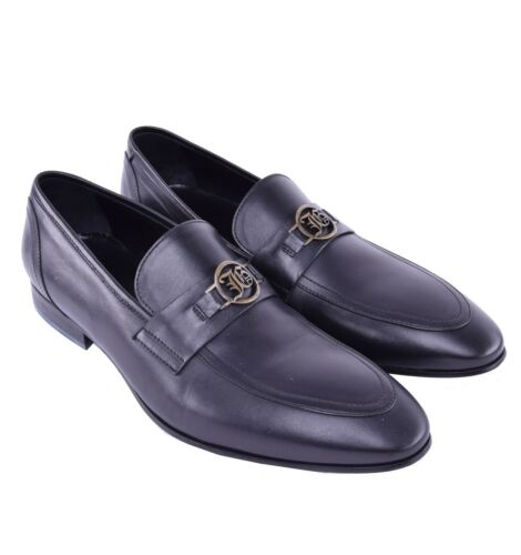 Galliano Logo Avec schnalle Mocassins Noir John 03967 Chaussures FZqdfxFw