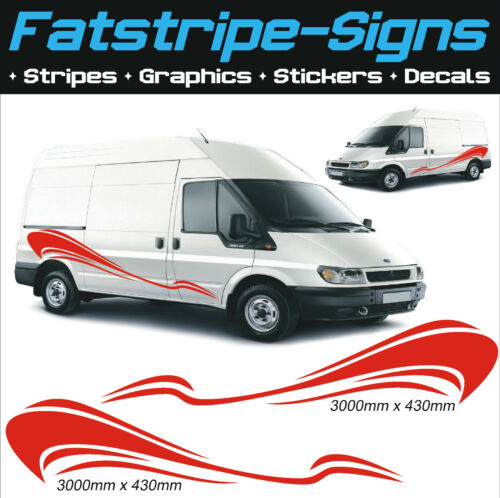 Van gráficos Stickers Calcomanías Ford Transit Sprinter Vito Transporter Motocross Mx