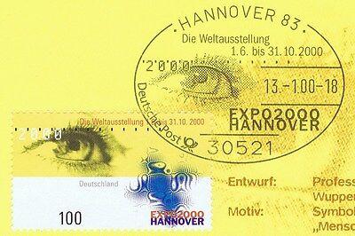 Brd 2000: Expo 2000! Nr. 2089 Mit Dem Expo-sonderstempel Von Hannover! 1a! 1605 Ohne RüCkgabe