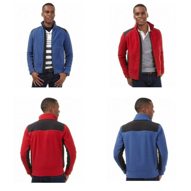 Nautica Jacket, Men Mixed Media Fleece Jacket L, XL red or Blue MSRP $89.50