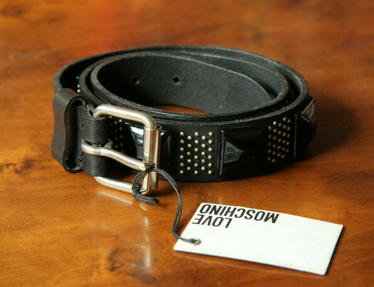 MOSCHINO Women's Black Belt 100% Leather Free Shipping Made in Italy New w tags