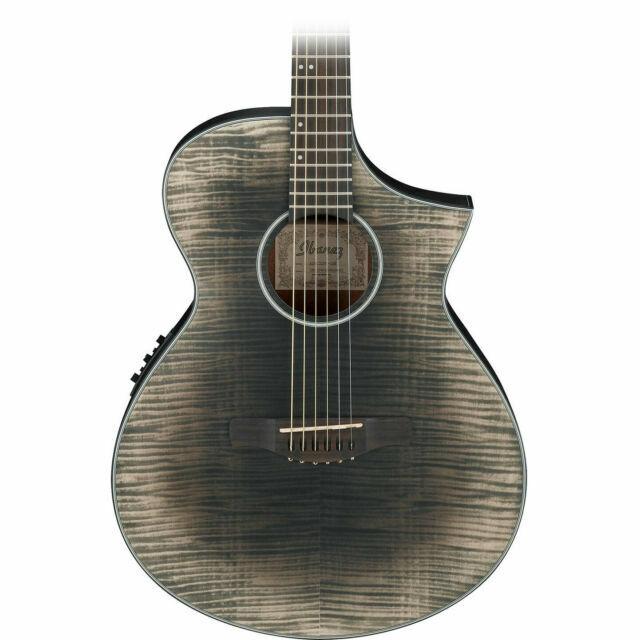 Ibanez Aewc32fm Acoustic Electric Guitar Glacier Black Low Gloss For Sale Online Ebay