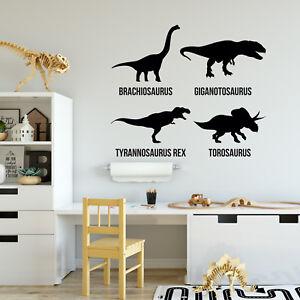 Kids Dinosaur Wall Stickers - T Rex decor for Childrens Window Door ...
