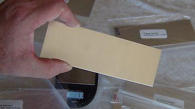 Argentium 935 silver sheet metal 2 x 6 inch  gauge 16 18 20 22 24 26 Dead Soft