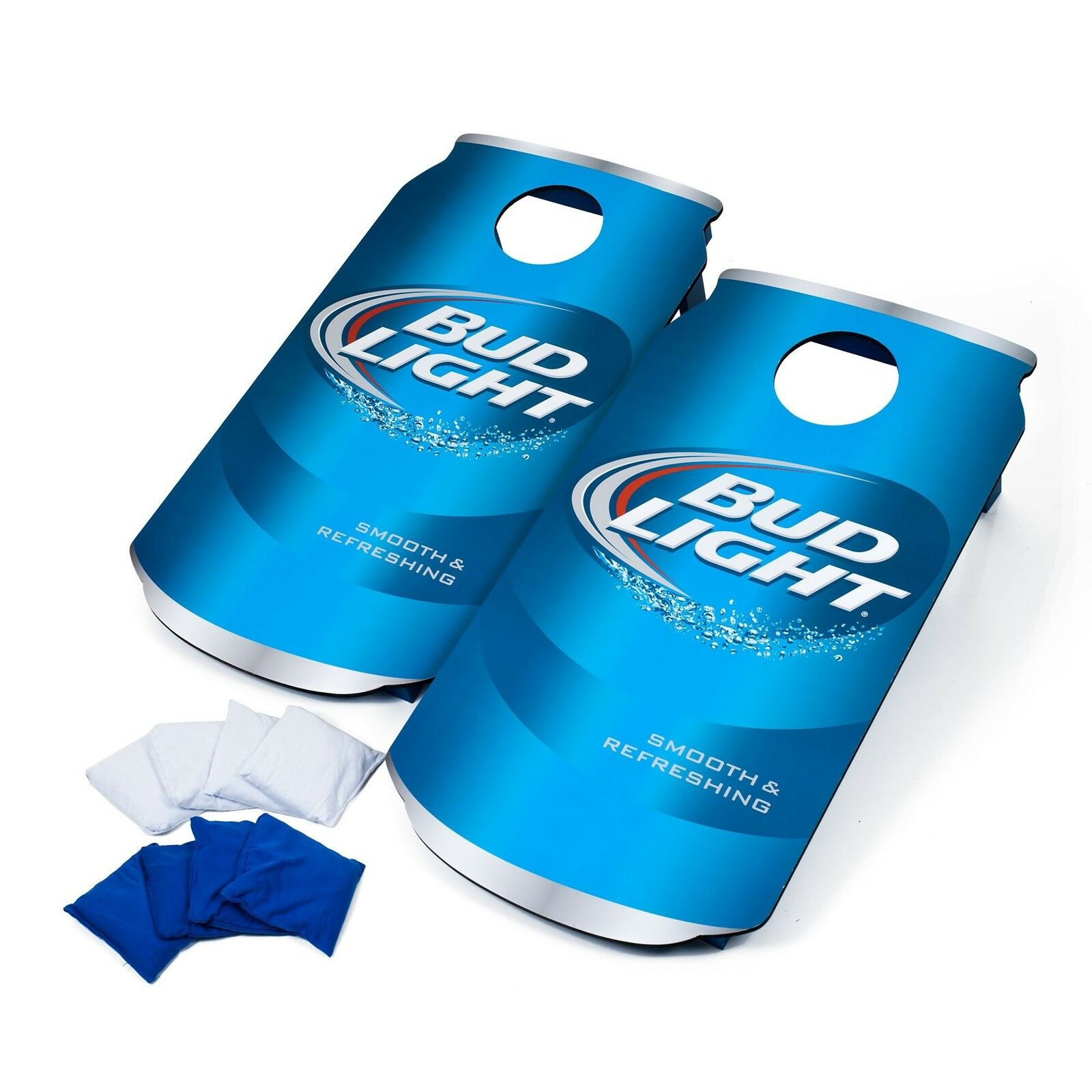 2  Bud Light Cornhole Boards Bean Bag Toss Hole Set Outdoor Tailgate Party Games  hottest new styles