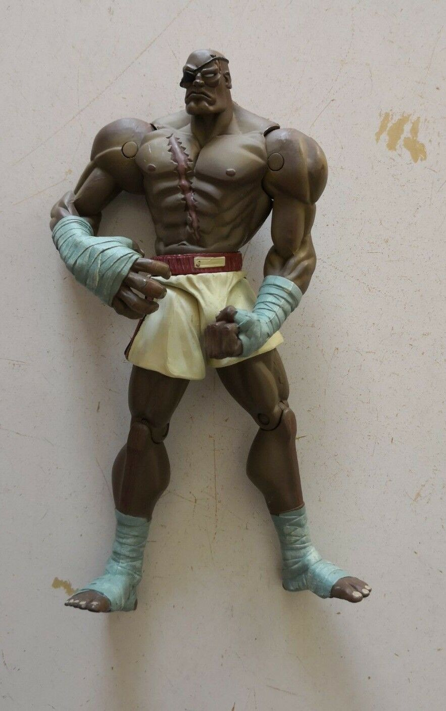 Capcom's STREET FIGHTER II Round 2, Player 2 SAGAT action figure by ReSaurus