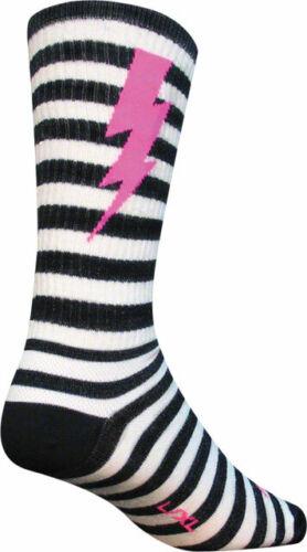 SockGuy laine Lightning Sock Noir//Blanc Sm//Md