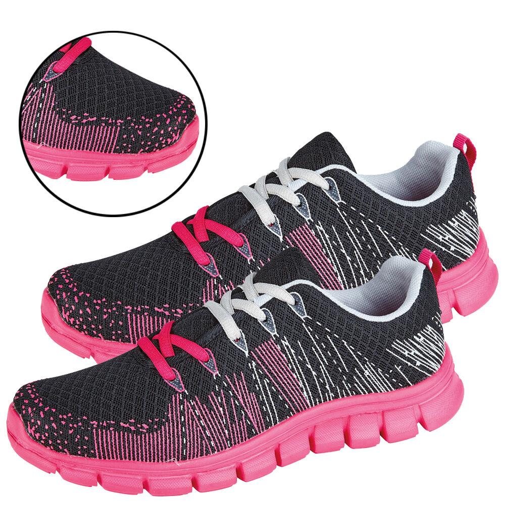 Mesdames formateurs Sports chaussures pompes lacent vers le haut en exécutant Gym Jogging Boots UK 3-8