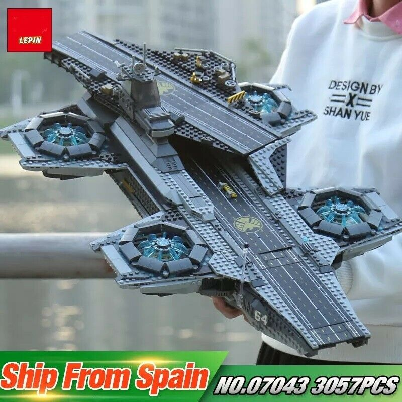 THE SHIELD HELICARRIER - THE AVENGERS -COMPATIBILE LEGO 76042-2996 PEZZI-GLS DHL
