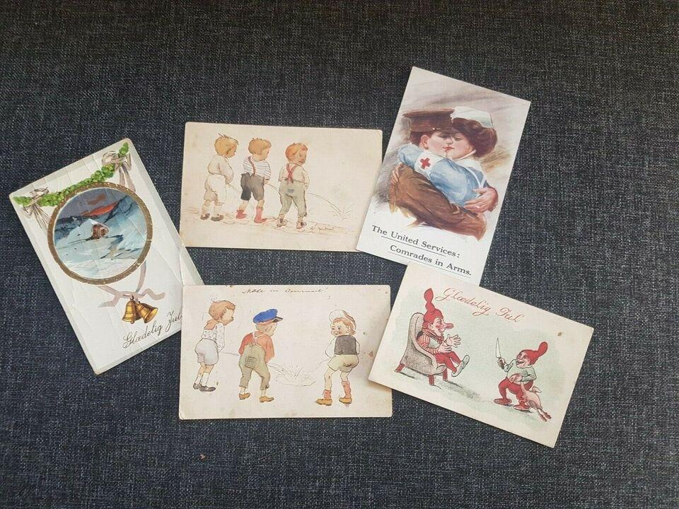Postkort, 5 gamle postkort