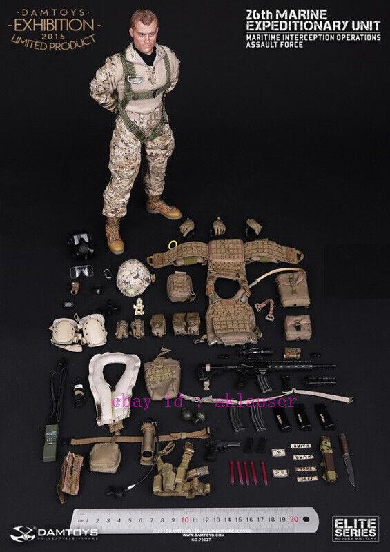 1//6 Scale Toy USMC 26th MARINE EXPEDITIONARY Unit-bouteille d/'oxygène avec Tan Pouch