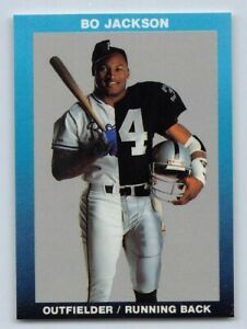 Details About 1990 Bo Jackson Broder Football Card Oakland Raiders Football Baseball