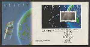 (F197M)MALAYSIA 1996 LAUNCH OF MALAYSIA EAST-ASIA SATELLITE (MEASAT I) MS FDC