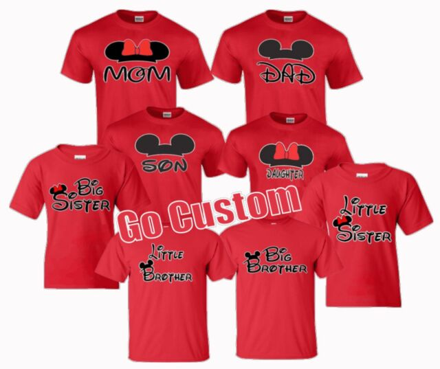 Family Vacation T shirts matching Mom Dad Brother Sister Daughter Grandma White
