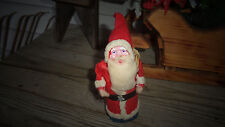 Vintage Santa Claus Cotton Batting Composition Face Rope+ Sack Belsnickle Santa