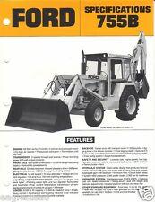 Equipment Brochure - Ford - 755B - Tractor Loader Backhoe - c1980's (EB377)
