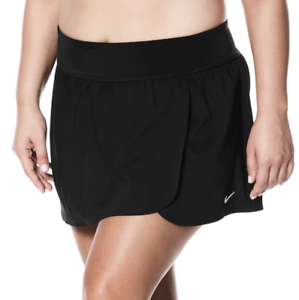 9aabfbb8c73 NWT Women s Nike Plus Size Solid Swim Boardskirt Choose Size Black ...