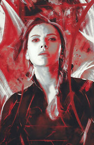 Avengers Endgame Poster Anthony Joe Russo Captain Marvel Black Widow