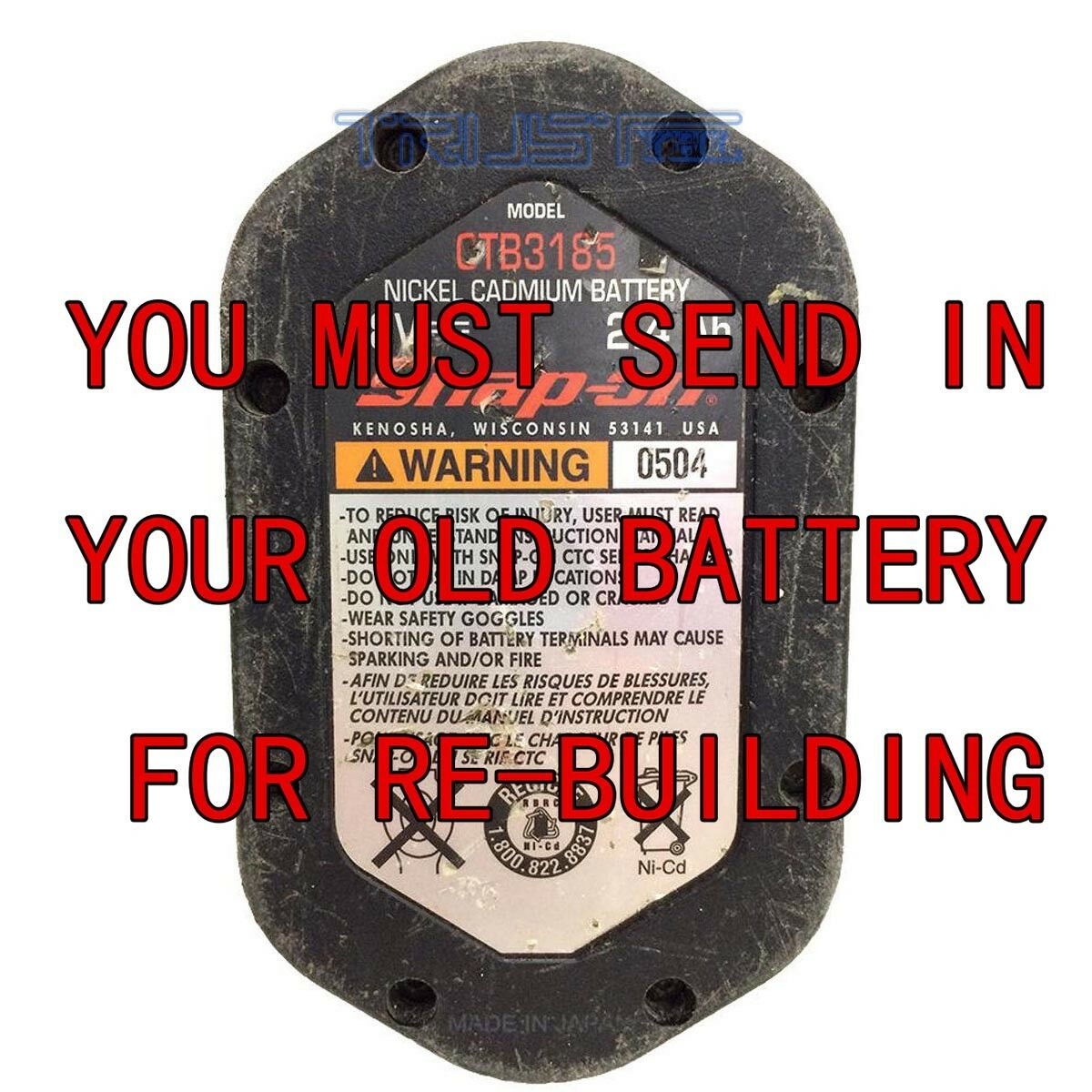 FOR SNAP-ON CTB3185 BATTERIES THE THE THE BEST REBUILD SERVICE BAY NI-CD 2.0AH 7b8f62
