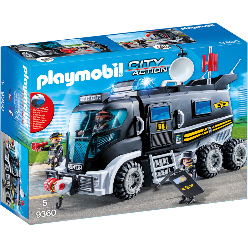 Playmobil 9360 City Action Tactical Unit SWAT Truck Playset