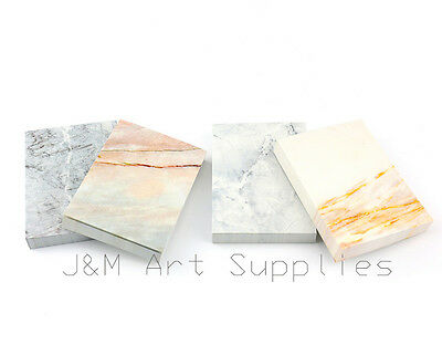 4 Pack(448 Sheets) Marble Grain Pattern Office Note Memo Pads