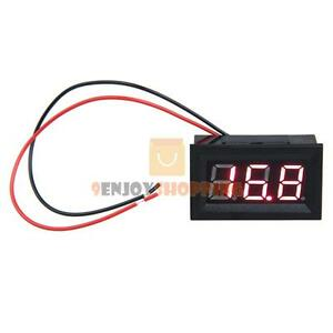 volt ammeter wiring 0 56  dc 3 2 30v ammeter red led amp two wire volt meter gauge  dc 3 2 30v ammeter red led amp two wire