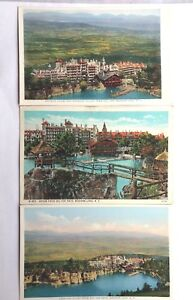 Mohonk-Lake-New-York-Postcards-Colorized-Vintage-3-Cards-Gorgeous-Views