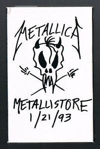 METALLICA-Metallistore-1-21-93-ORIGINAL-PROMO-CASSETTE-3-Tracks-LIVE-IN-RUSSIA