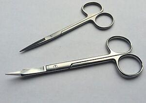 2X Machine Embroidery Scissors Set Straight Curved Sharp 11CM Steel CE SAVE £5