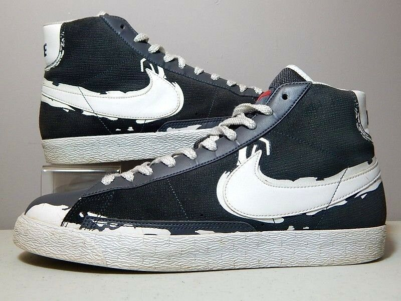 Nike Shoes - 2009 Blazer High Brooklyn Dodgers - Jackie Robinson Grey - Comfortable