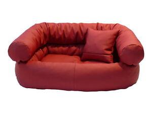Divano cuccia materasso divano ecopelle per cani gatti l for Divano 80 cm