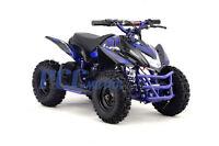 Titan Kids Electric Battery Mini Outdoor Quad Dirt Bike Ride On Atv 24v Blue