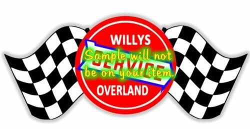 Willys Overland Cars Dealer Service Contour Cut Vinyl Decals Sign Stickers