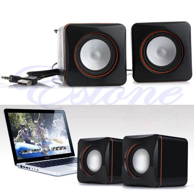 Mini Portable USB Audio Music Player Speaker Black for iPhone iPad MP3 Laptop PC