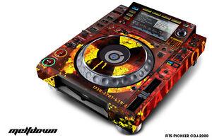 Skin Decal Sticker Wrap pour Pioneer CDJ 2000 PLATINE DJ Mixer pro audio mltdwn