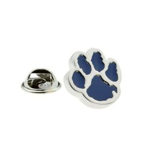 Image Is Loading Blue Dogs Paw Print Lapel Pin Badge X2AJTP817