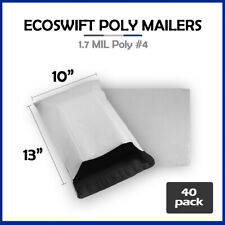 40 10x13 Ecoswift Poly Mailers Plastic Envelopes Shipping Mailing Bags 17mil