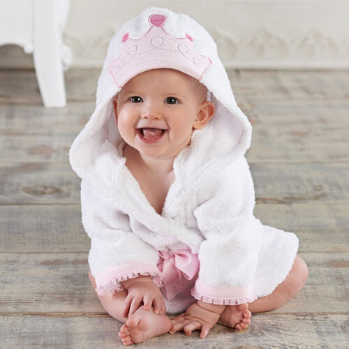 Newborn Boys Girl Animal Bathrobe Infant Baby Hooded Bath Towel One-Piece Pajama