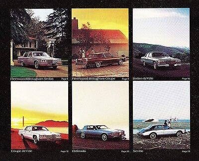 1981 Cadillac Fleetwood Sedan DeVille Coupe DeVille Eldorado Seville FL Brochure