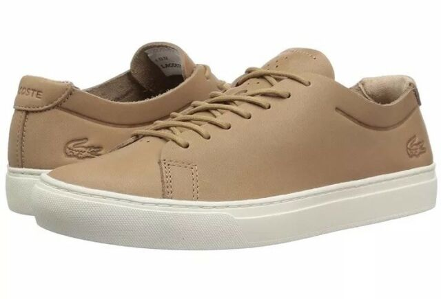 L.12.12 Unlined Leather Sneaker TAN NWB