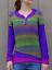 Mode-Femme-Pull-Chandails-Casual-Chaud-Loisir-Bande-Couture-Manche-Longue-Plus miniature 10