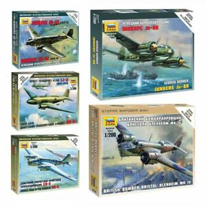 Model-Kits-034-Two-engined-aircrafts-Air-Force-1939-45-WWII-034-planes-1-200-Zvezda