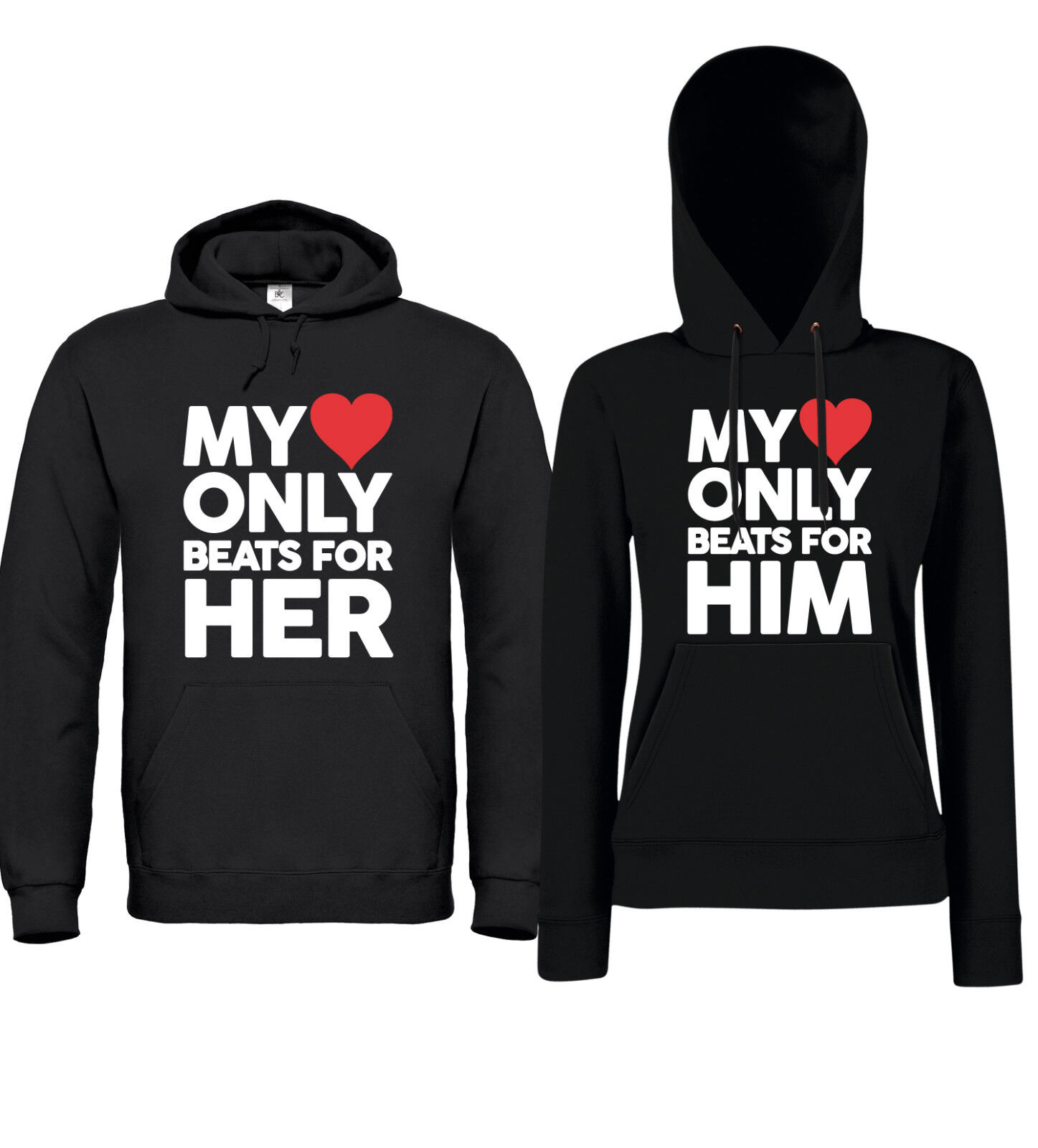 My HEART for HIM   HER - Partner Hoodies - Liebe Ehe Beziehung Freund Freundin