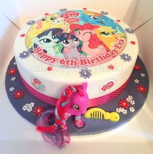 Image Is Loading EDIBLE MY LITTLE PONY 7 5 034 ICING