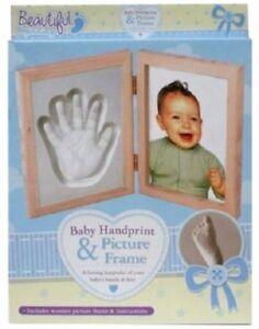 Baby-Hand-Print-Plaster-Moulding-amp-Photo-Frame-Casting-mould-kit-Keepsake-Gift